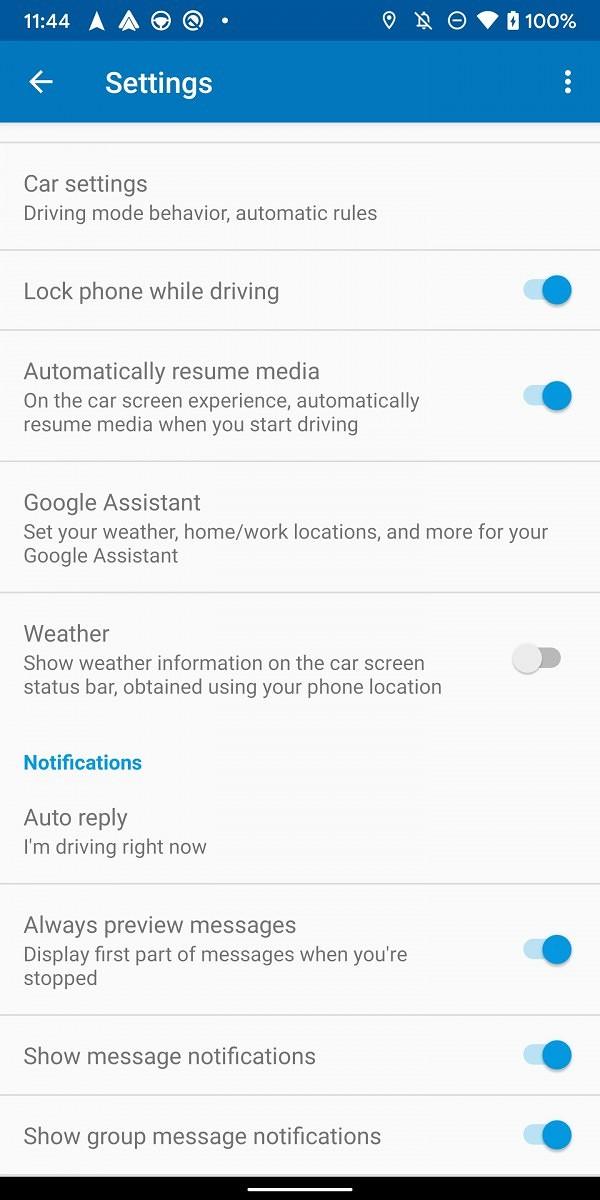 nowe Android Auto 4.8 informacje pogodowe pogoda na pasku