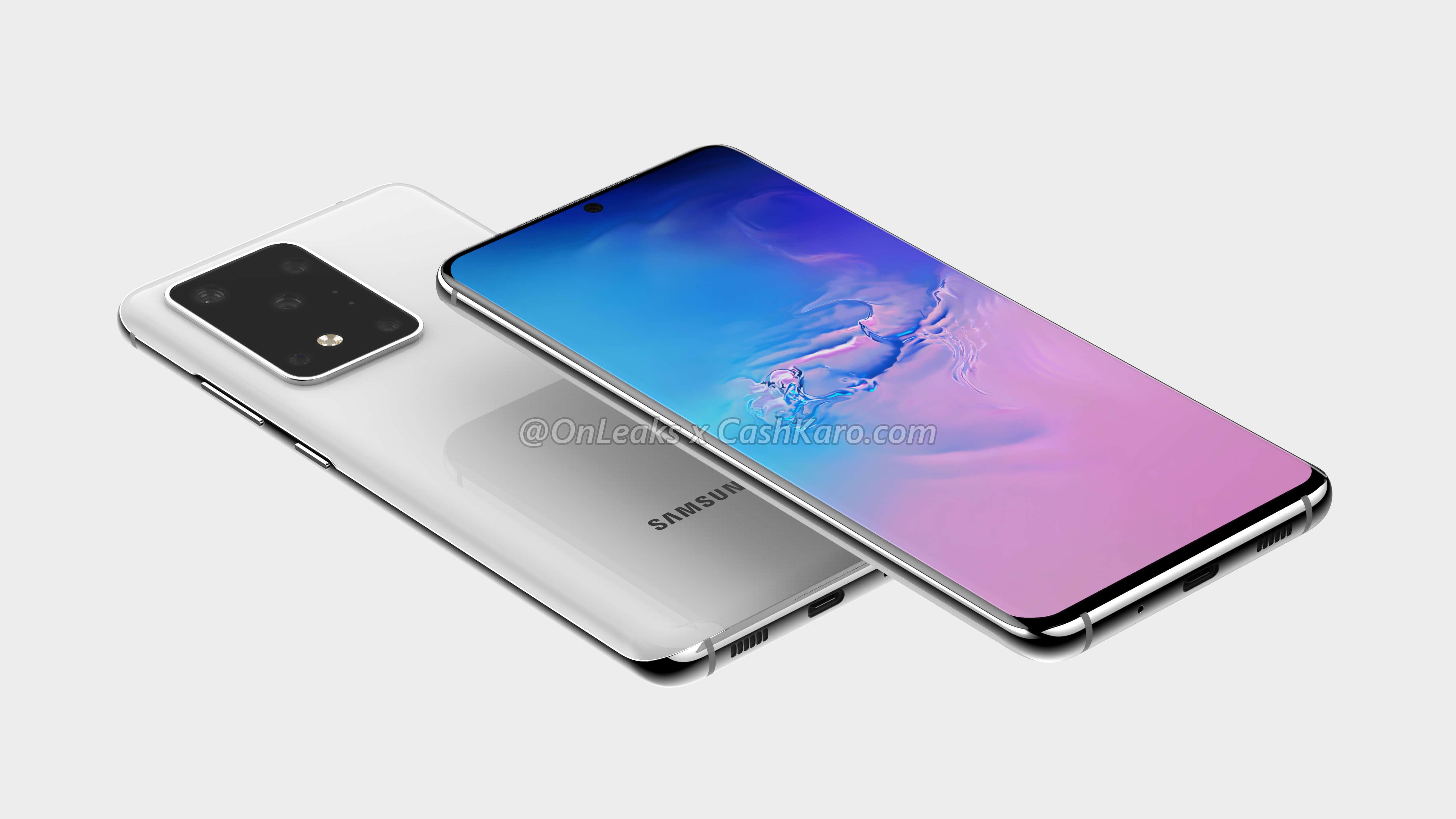Samsung Galaxy S11 Plus rendery Onleaks specyfikacja techniczna aparat plotki przecieki wycieki kiedy premiera design