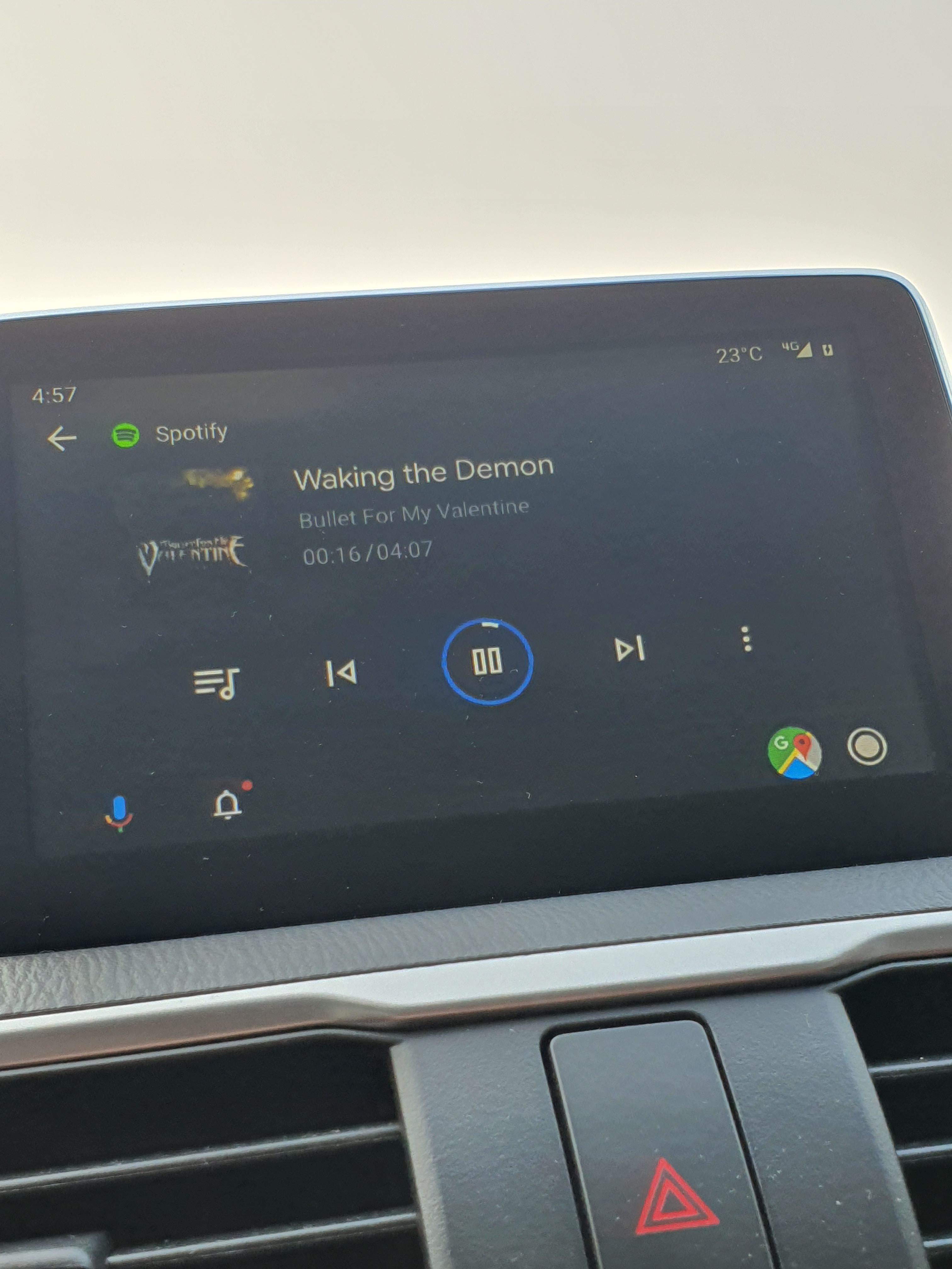 Pogoda w Android Auto 4.8 wskaźnik pogody