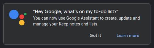 Asystent Google integracja z Google Keep