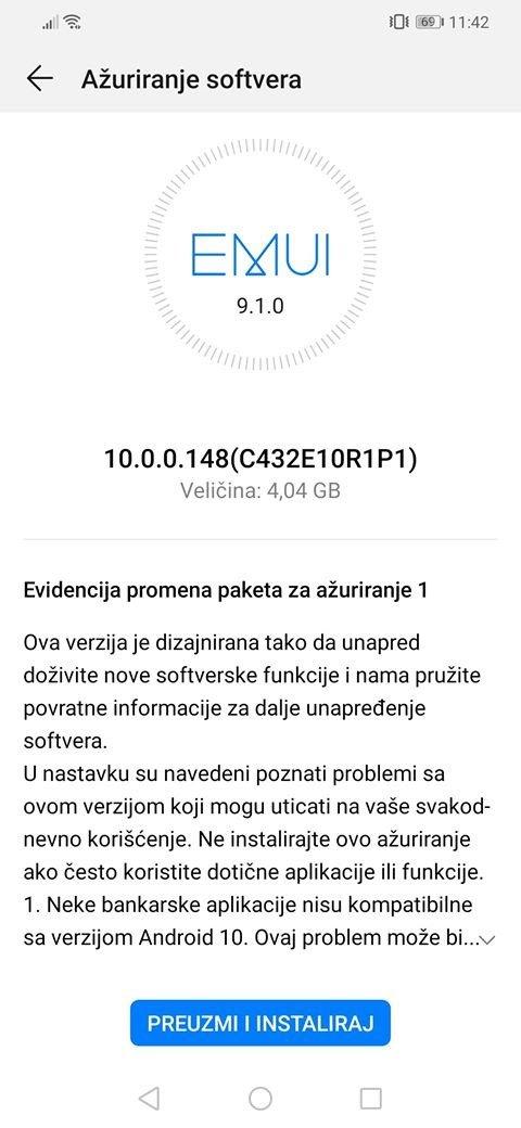 aktualizacja EMUI 10 Stable z Android 10 dla Huawei Mate 20 Lite