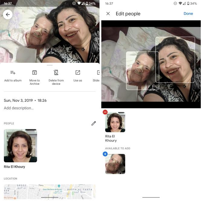 Zdjęcia Google Photos tagowanie ludzi