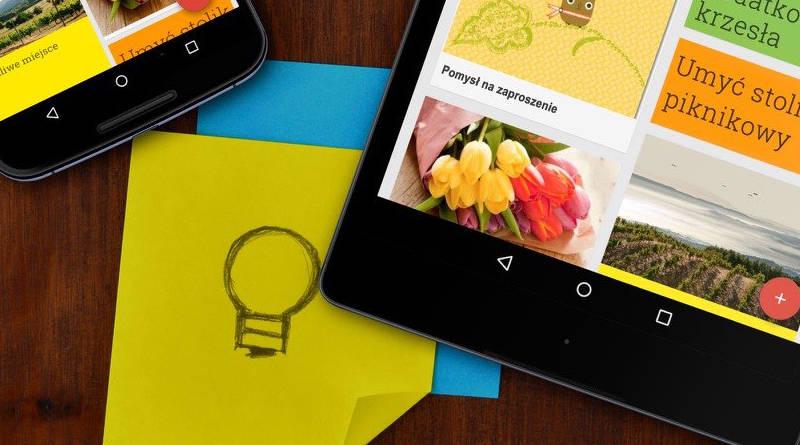 Google Keep pasek Material Theme przycisk FAB aplikacje Android