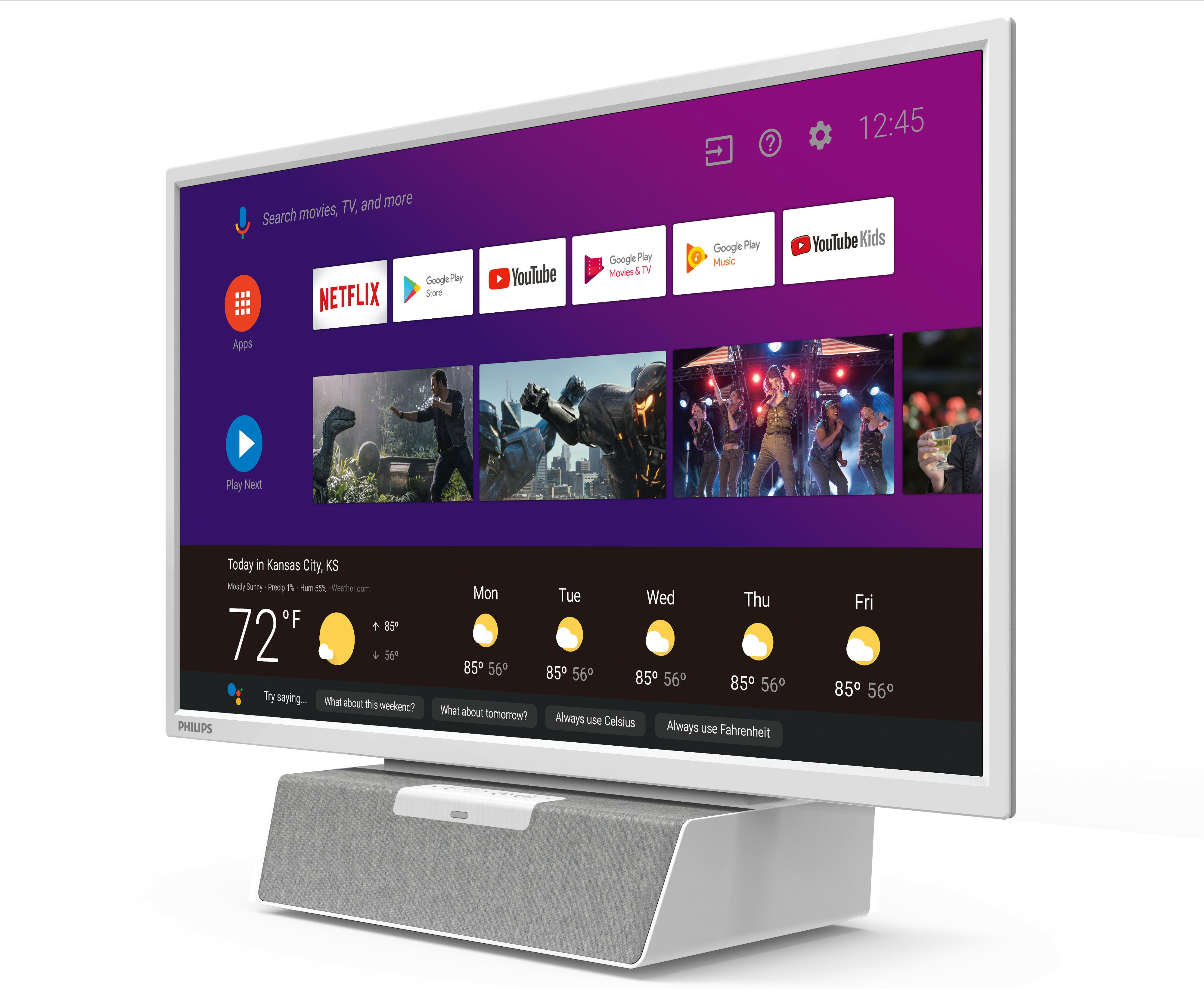 Philips telewizor do kuchni Android TV z Asystent Google