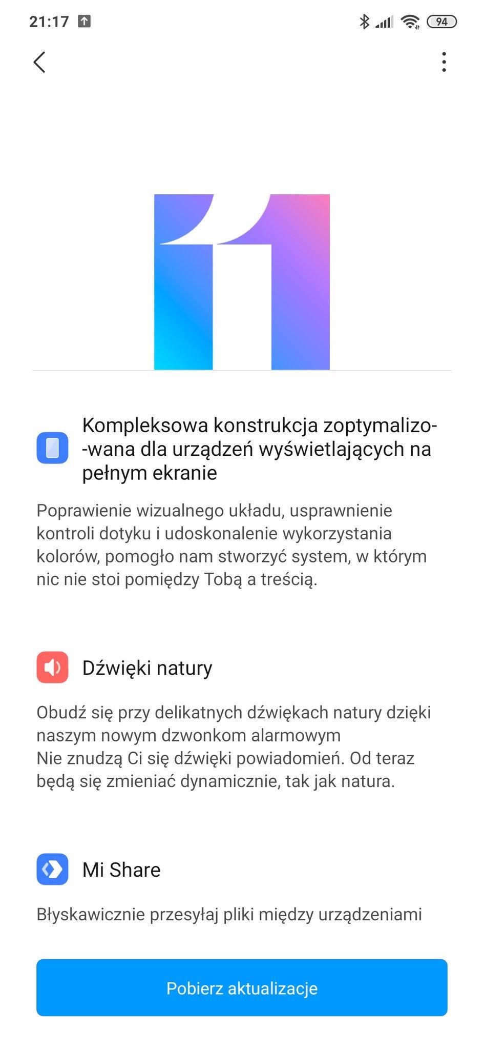 niebieski Redmi Note 8 Pro aktualizacja do MIUI 11 od Xiaomi smartfony opinie