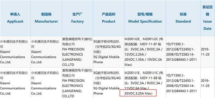 Xiaomi Mi 10 ładowarka 66W kody premiera plotki przecieki wycieki