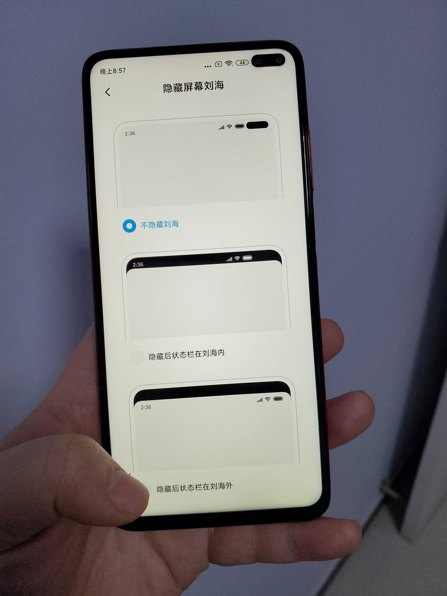 Xiaomi Redmi K30 5G ekran dwie dziurki