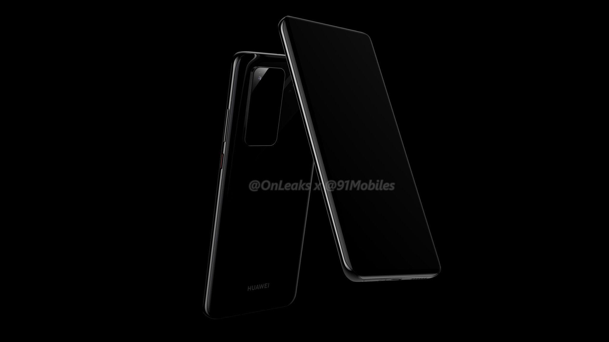 kiedy premiera Huawei P40 Pro rendery plotki przecieki wycieki specyfikacja dane techniczne jaki aparat