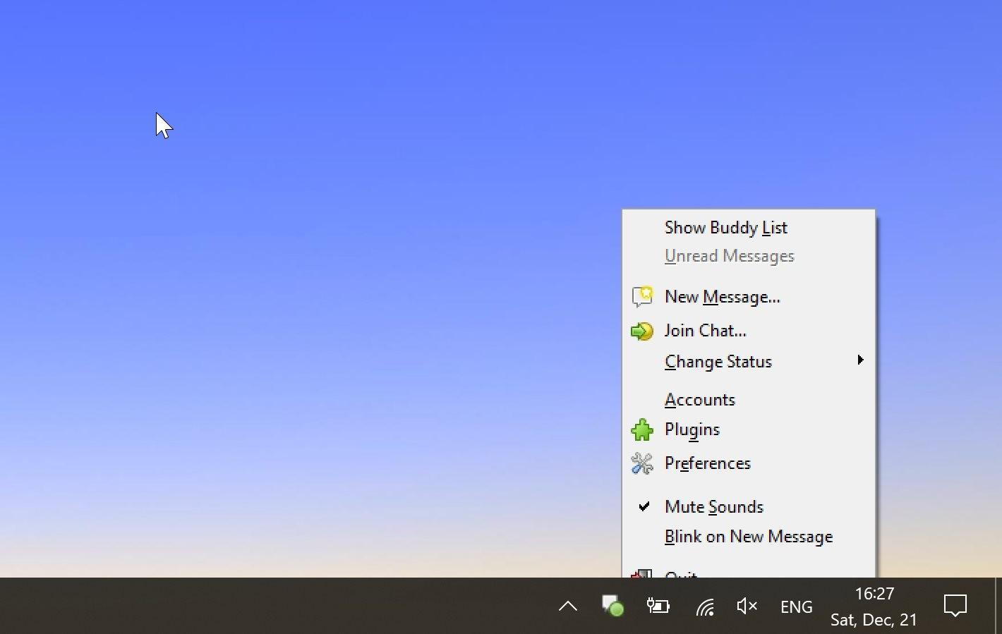 Windows 10 1909 Windows XP błąd menu kontekstowe pasek zadań