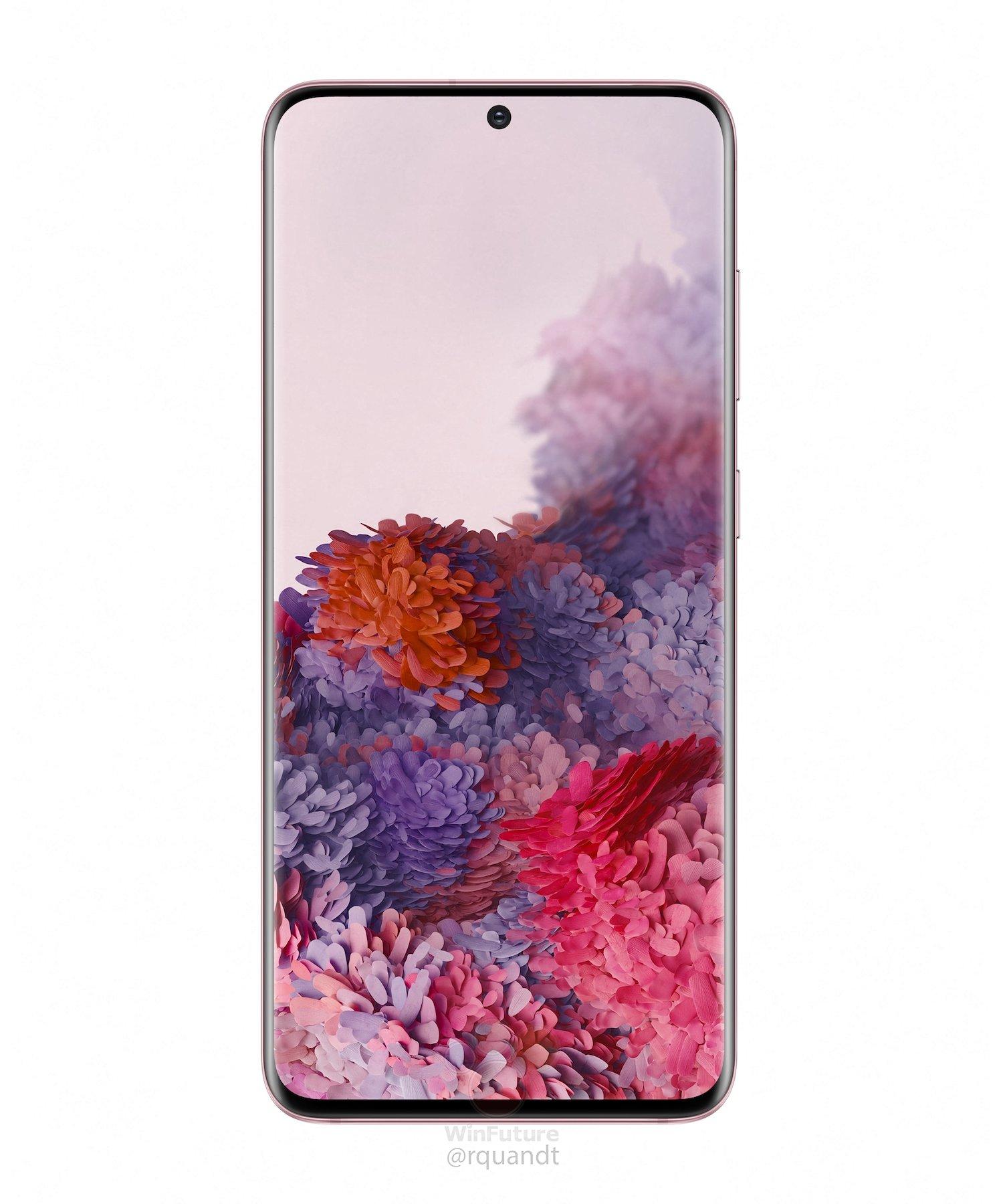 różowy Galaxy S20 Samsung cena kiedy premiera plotki przecieki wycieki rendery specyfikacja dane techniczne