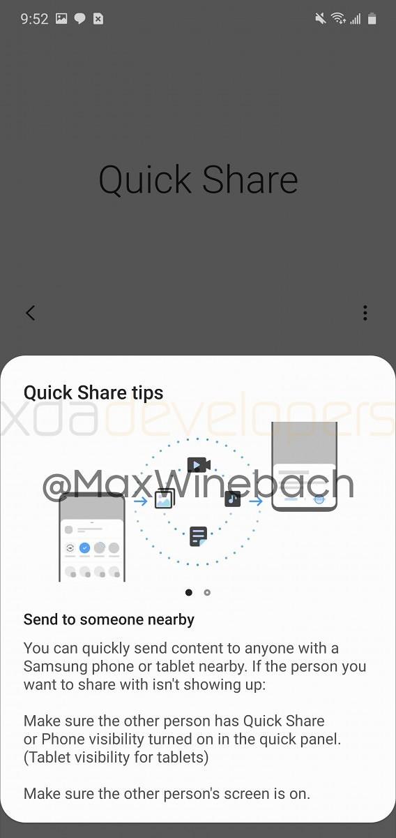 Samsung Galaxy S20 Quick Share funkcja jak AirDrop Apple szybkie przesyłanie plików jak to działa