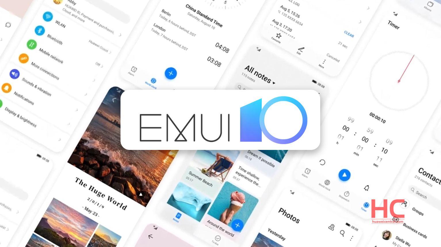 EMUI 10 aktualizacja Android 10 dla Huawei Nova 3 3i Honor Play