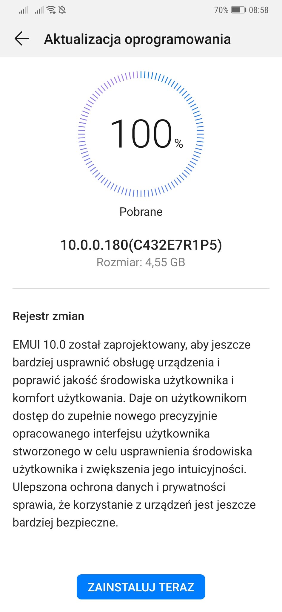 Aktualizacja EMUI 10 Stable Android 10 dla Huawei Mate 20 Pro w Polsce opinie czy warto instalować usługi Google