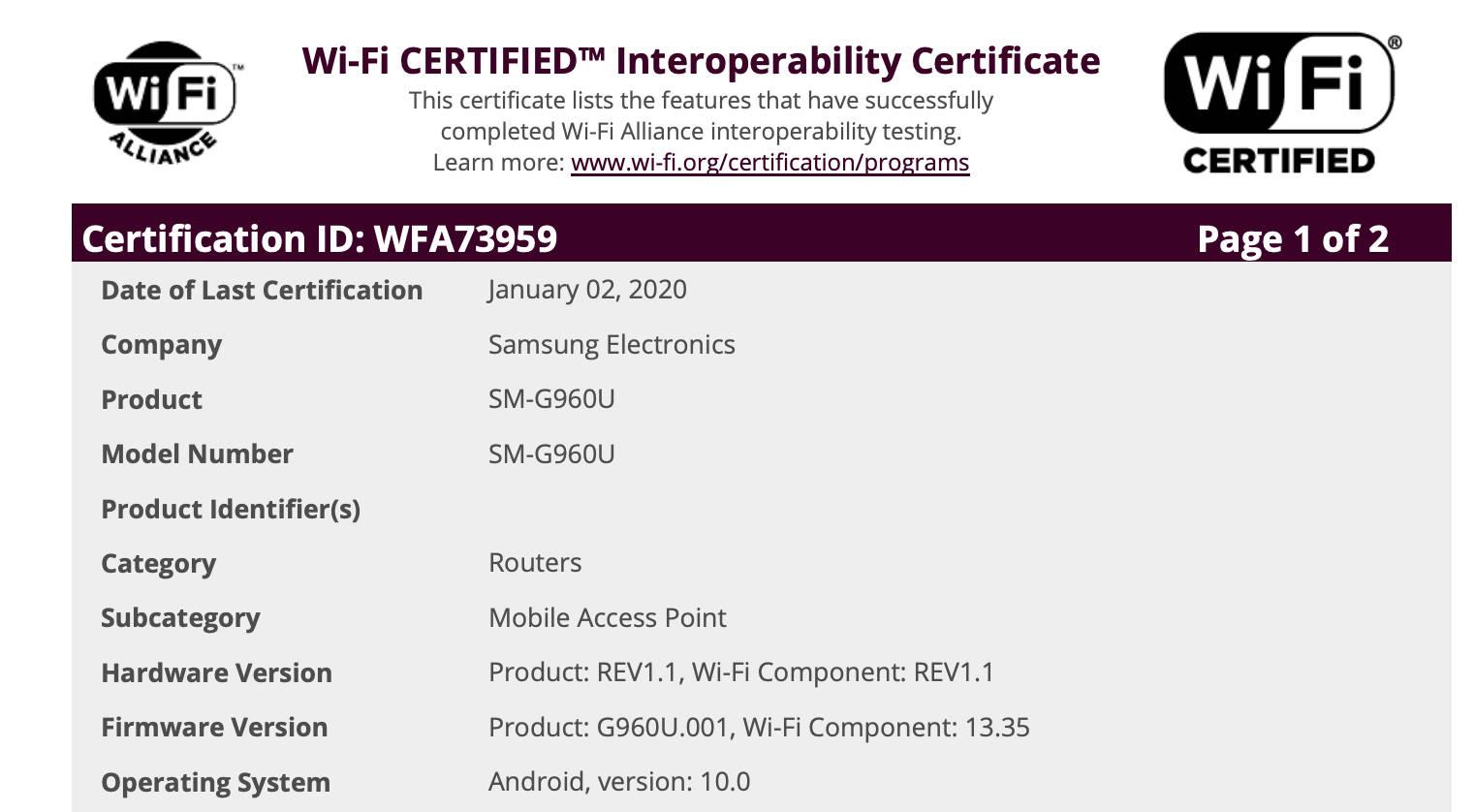 Samsung Galaxy S9 Galaxy A80 kiedy aktualizacja do One UI 2.0 Android 10