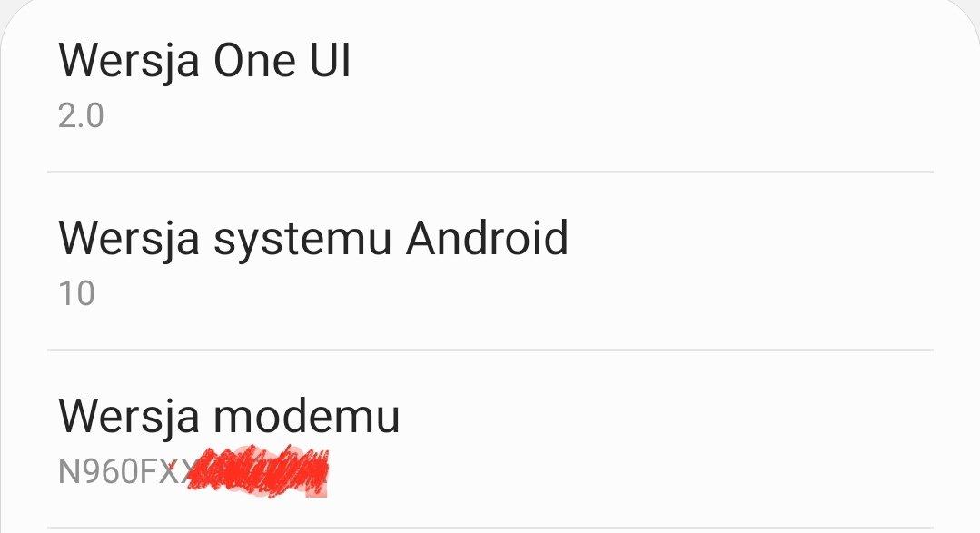 Aktualizacja One UI 2.0 z ndroid 10 dla Samsung Galaxy Note 9 XEO w Polsce