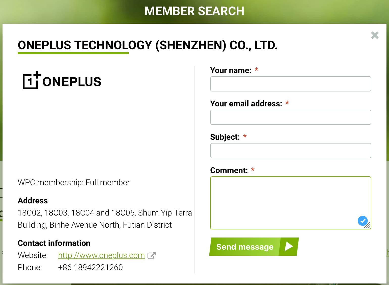 OnePlus 8 Pro bezprzewodowe ładowanie WPC Wireless Power Consortium plotki przecieki wycieki specyfikacja dane techniczne