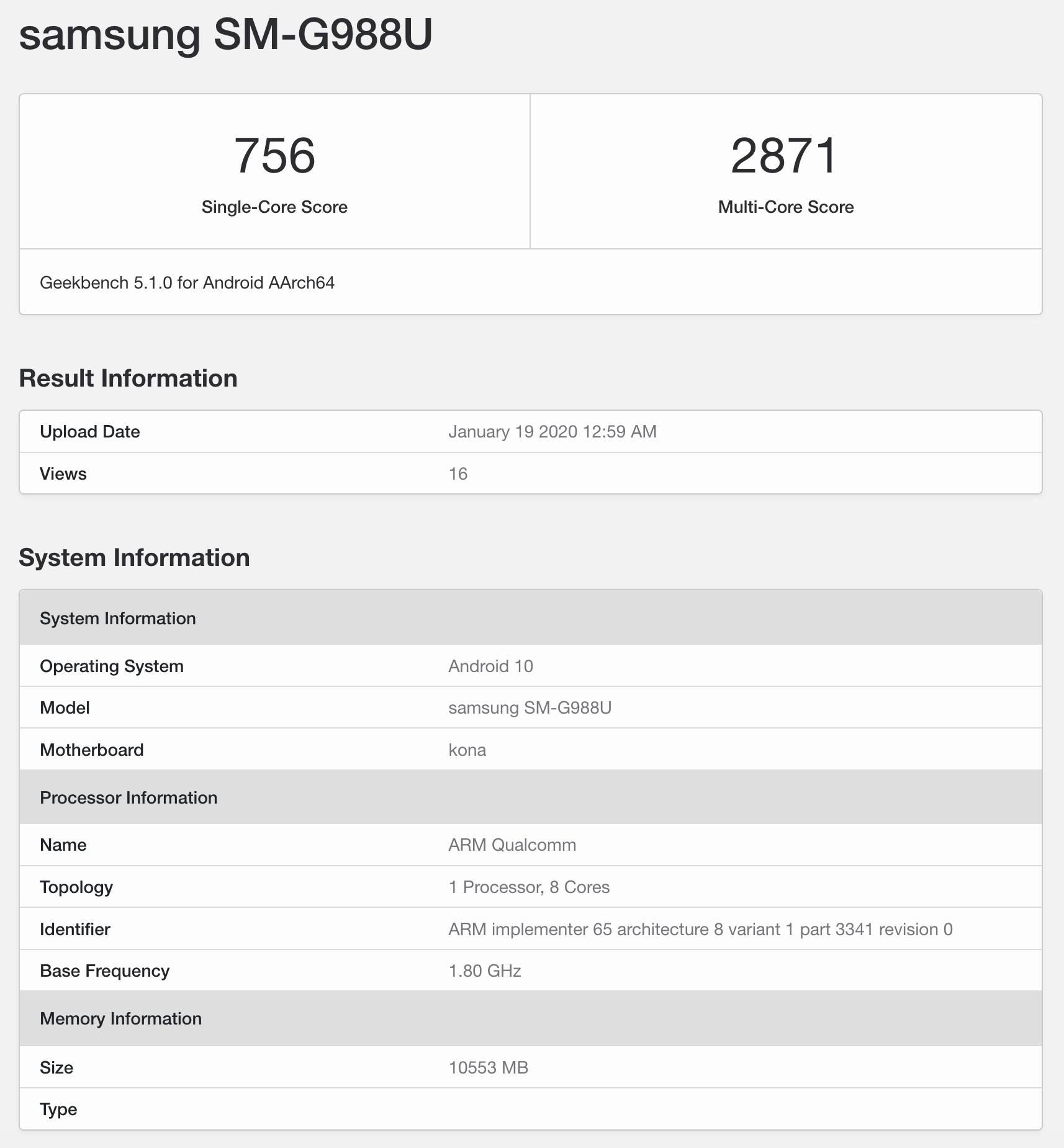 Samsung Galaxy S20 Ultra Geekbench benchmarki kiedy premiera plotki przecieki wycieki specyfikacja dane techniczne