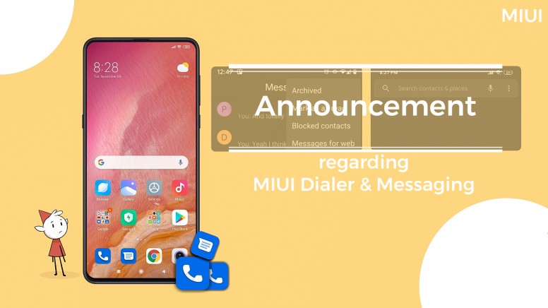 Telefon Google Wiadomości aplikacje Xiaomi MIUI 11