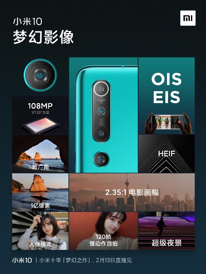 Xiaomi Mi 10 Pro nagrywanie wideo w 8K jak Galaxy S20 aparat plotki przecieki wycieki specyfikacja dane techniczne