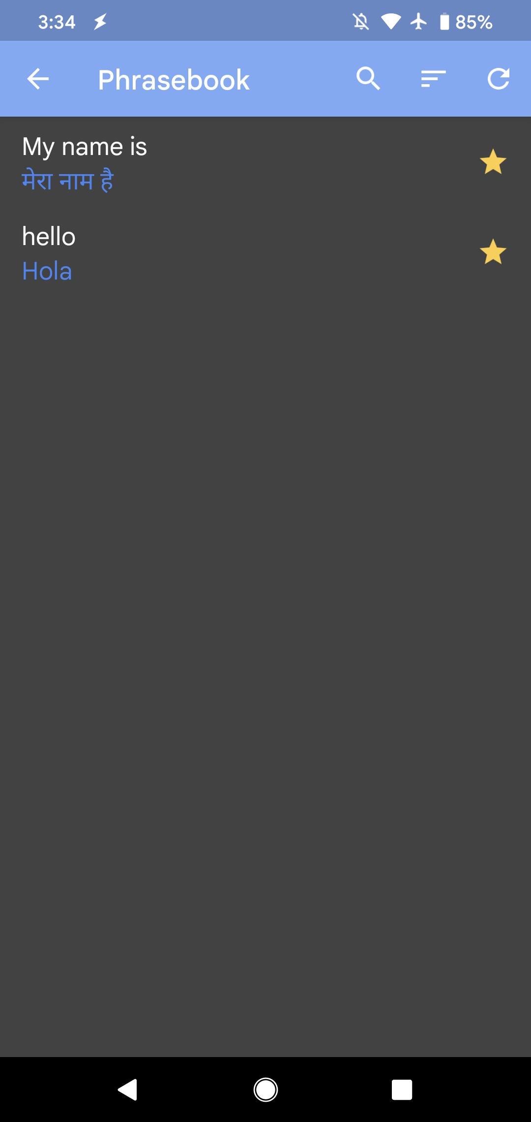 Tłumacz Google dark mode tryb ciemny motyw