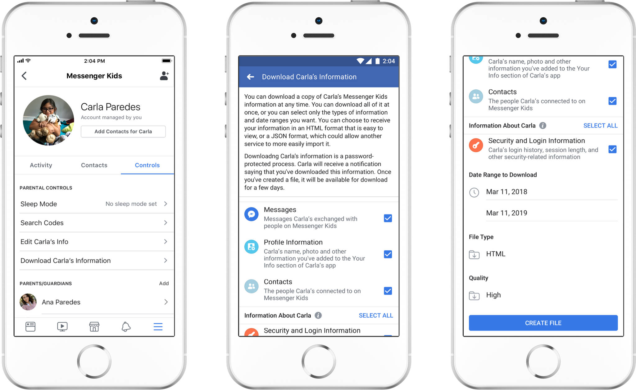 Aktualizacja Facebook Messenger Kids nowe funkcje nowości dla rodziców