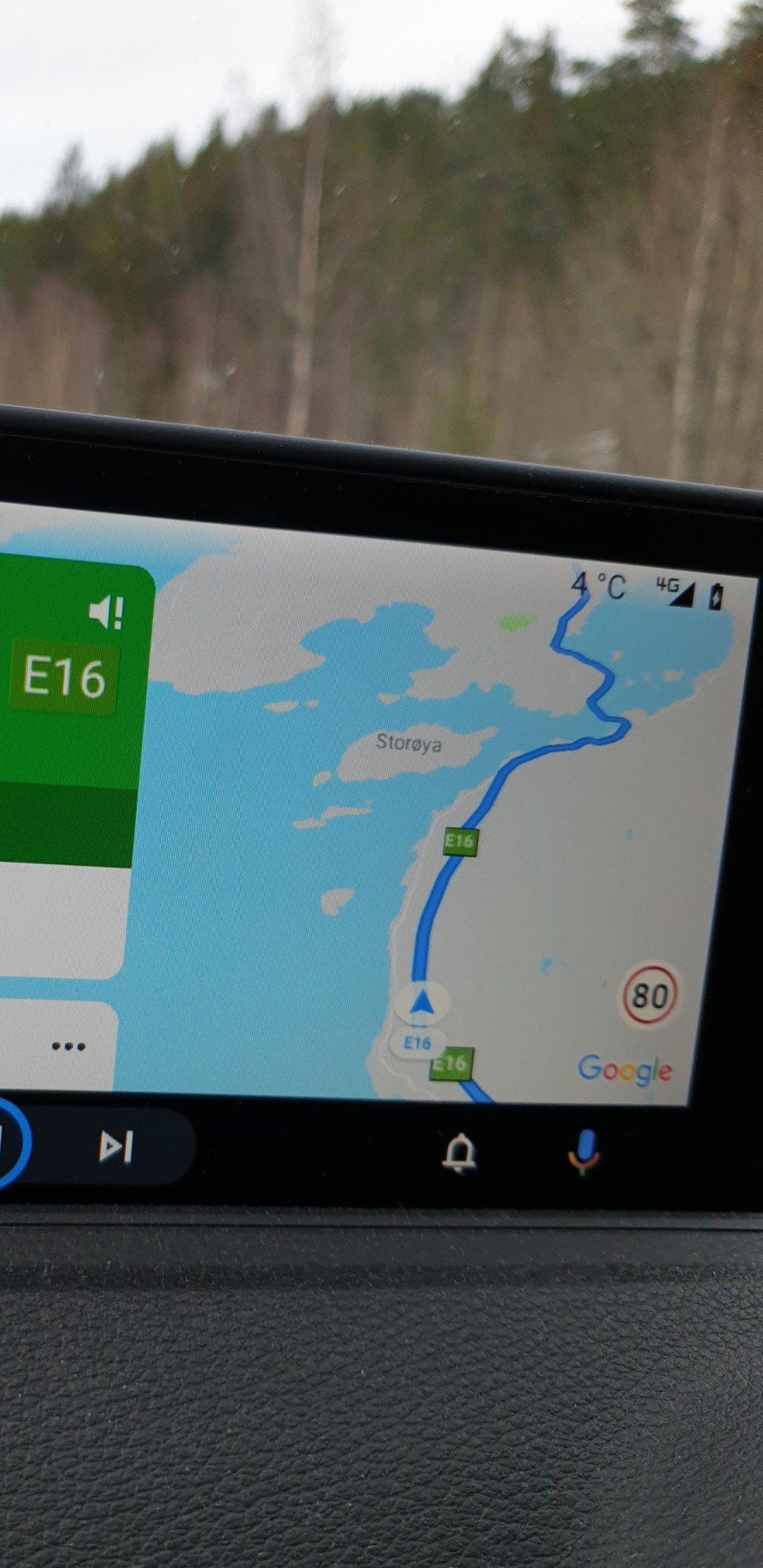 Google Maps Android Auto limity prędkości