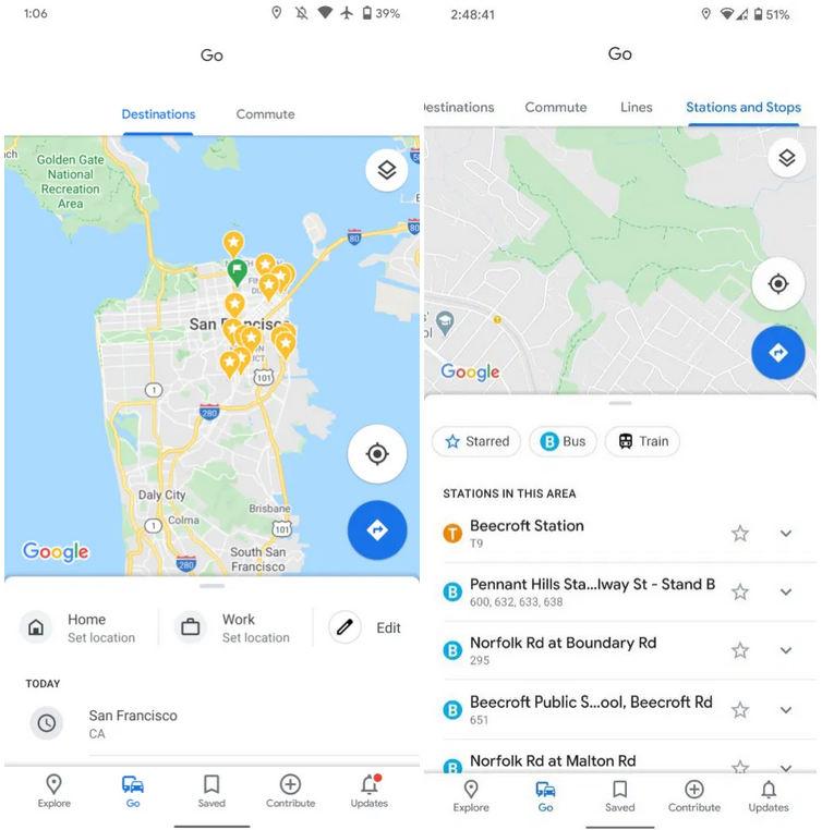 Mapy Google Maps karta Idź Go dojazdy