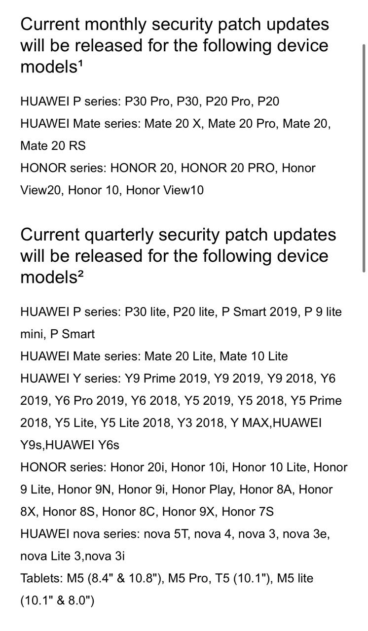 aktualizacje EMUI 10 Stable Android 10 dla Huawei Mate 10 kiedy