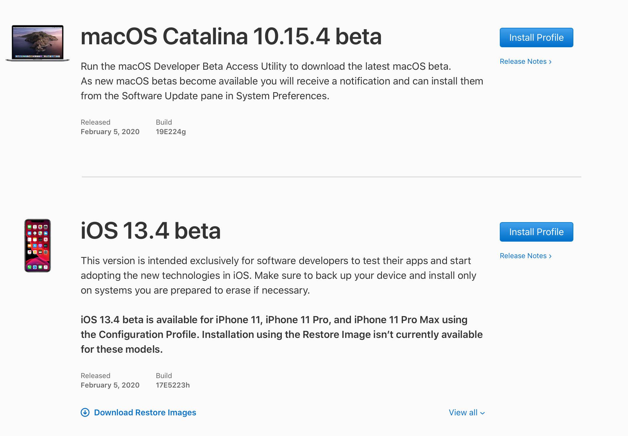 iOS 13.4 beta 1 Apple aktualizacja iPhone macOS 10.15.4 watchOS 6.2 rvOS 13.4 iPad OS 13.4