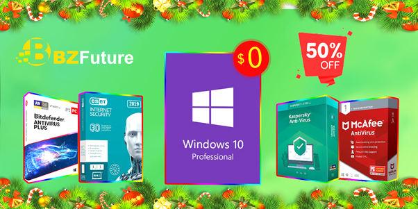 promocja BZFuture na klucz Windows 10 Pro OEM antywirusy