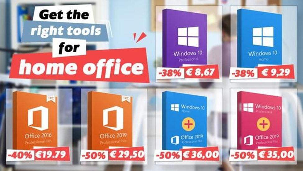 praca zdalna promocja Windows 10 Office 2019