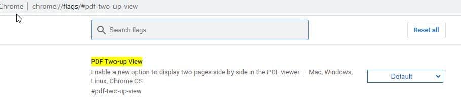 Google Chrome Canary czytnik PDF-ów widok dwóch stron przeglądarka internetowa