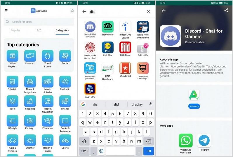 AppSearch jak zainstalować aplikacje na Huawei spoza Sklep Google Play AppGallery