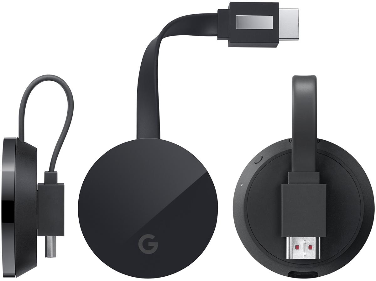 Google Chromecast Ultra 2. generacji przystawka z Android TV pilot zdalnego sterowania