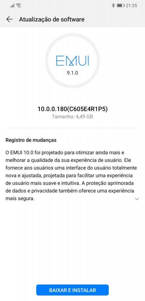 Aktualizacja EMUI 10 Android 10 dla Huawei Mate 20 Pro