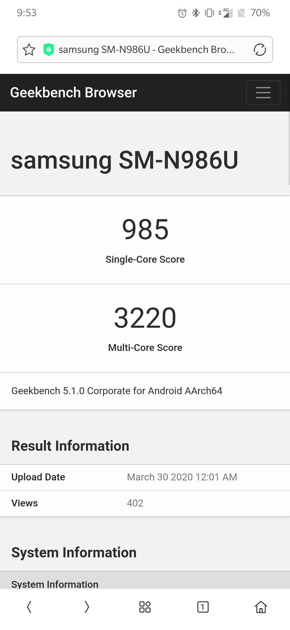 Samsung Galaxy Note 20 Plus 5G Geekbench specyfikacja dane techniczne plotki przecieki wycieki