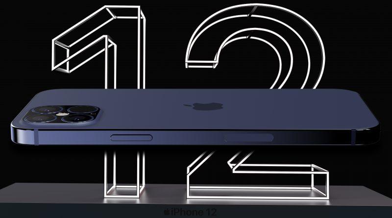 składanie Apple iPhone 12 Pro Max cena rendery design plotki przecieki wycieki kiedy premiera wygląd 5G pamięć na dane 128 GB niebieski kolor