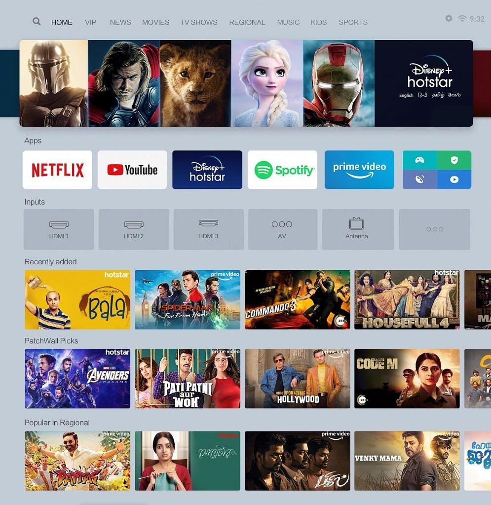 PatchWall 3.0 aktualizacja Android TV na telewizory XIaomi Mi TV