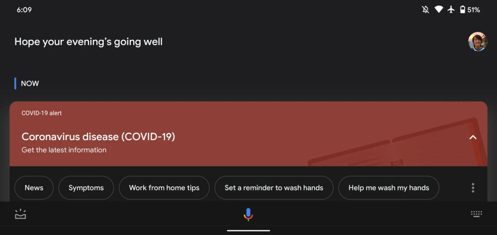 Asystent Google karta alert SOS koronawirus COVID-19