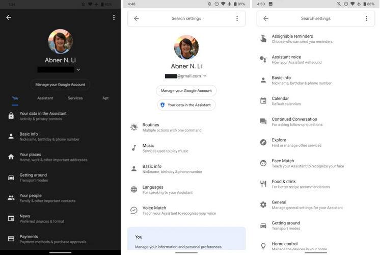 Asystent Google nowe ustawienia wyszukiwarka