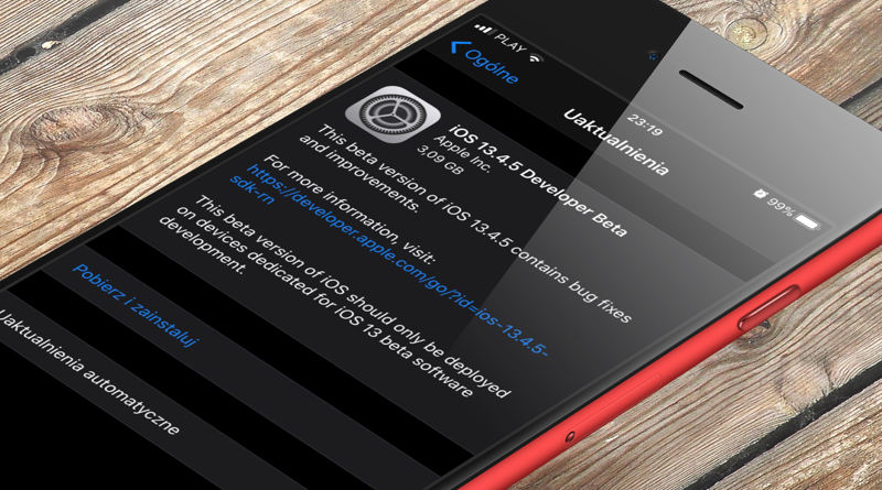iOS 13.4.5 beta co nowego lista nowości zmiany aktualizacja Apple iPhone