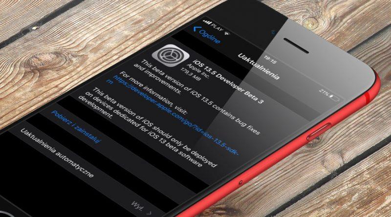 iOS 13.5 beta 1 co nowego nowości Apple iPhone aktualizacja COVID-19 API