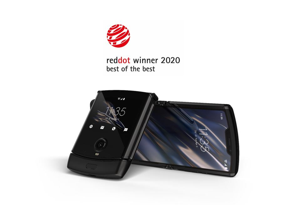 składany smartfon Motorola Razr 2019 design Red Dot nagroda Best of Best