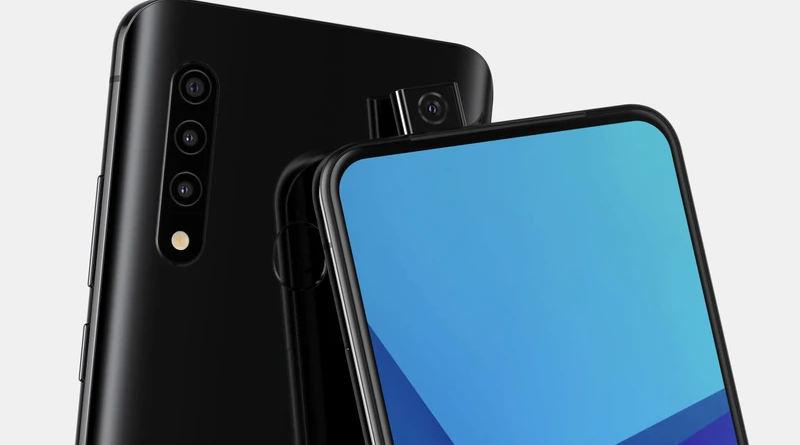 Samsung Galaxy smartfon wysuwana kamera rendery