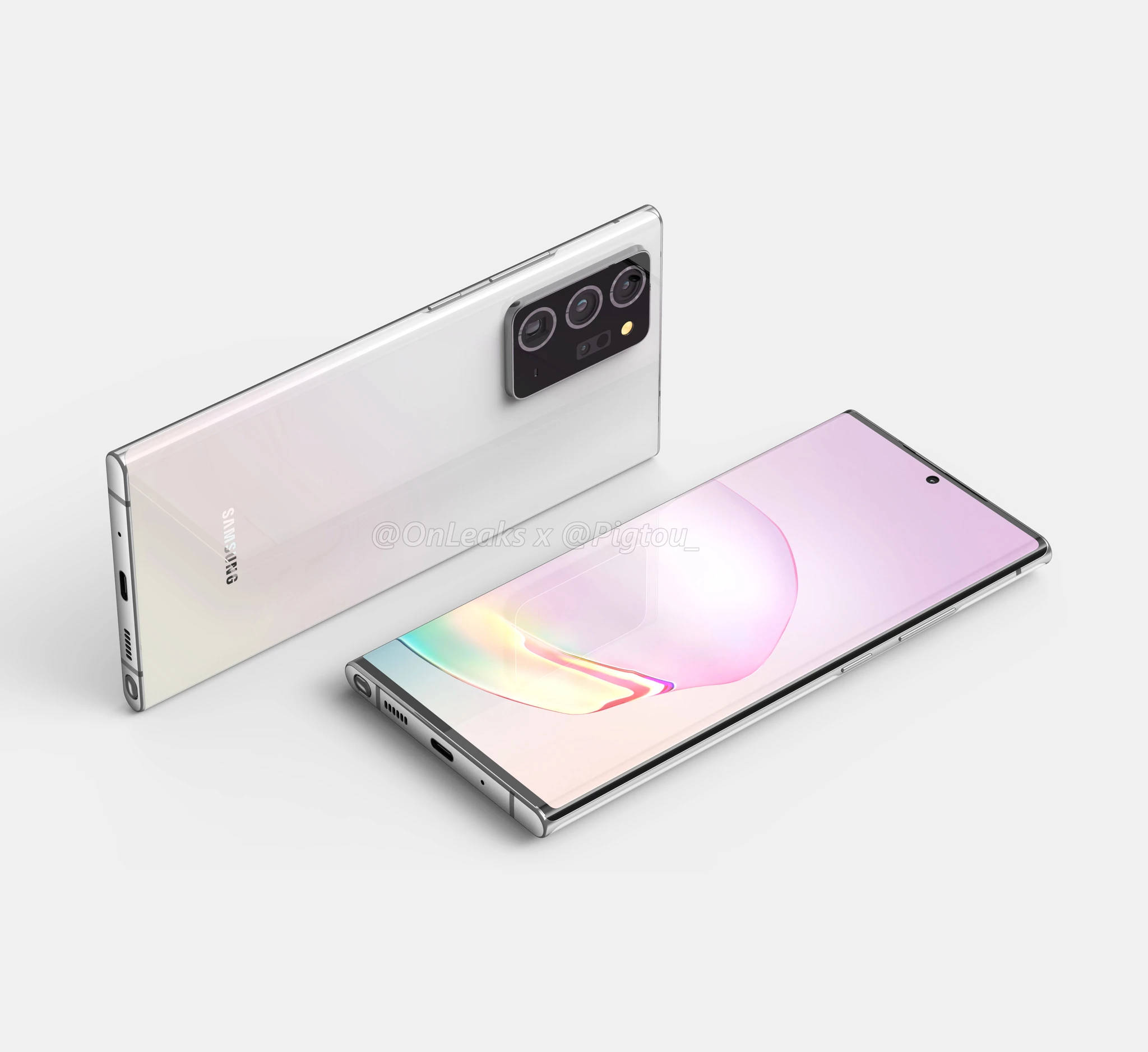 Samsung Galaxy Note 20 Plus plotki przecieki wycieki specyfikacja dane techniczne kolory obudowy aparat
