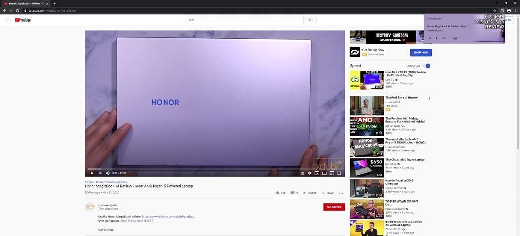 Google Chrome Media Feeds strony rekomendacje wideo