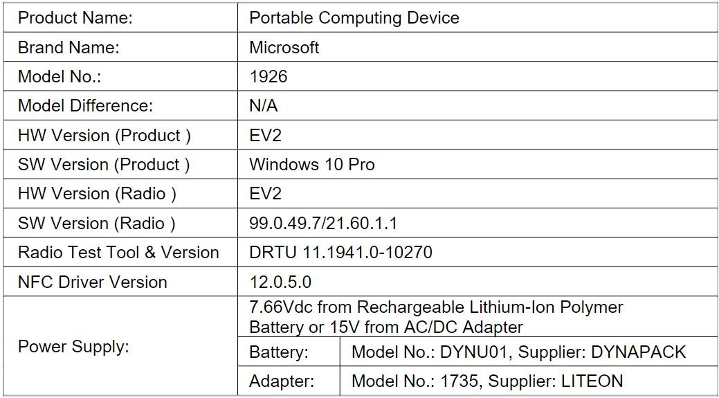 laptop Microsoft Surface Go 2 LTE kiedy premiera specyfikacja dane techniczne