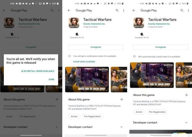 Sklep Google Play aplikacje gry opcja zainstaluj gdy dostępne Android