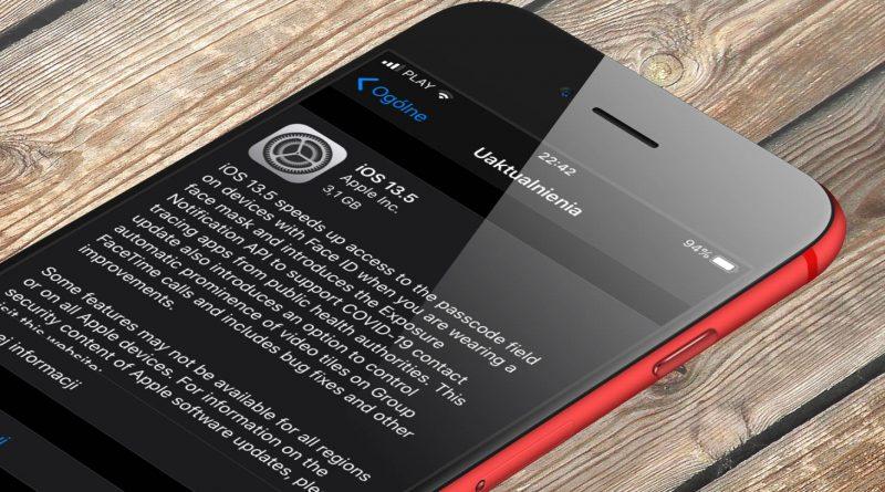aktualizacja iOS 13.5 GM iPadOS 13.5 GM macOS 10.15.5 co nowego wykaz zmian lista nowości Apple iPhone