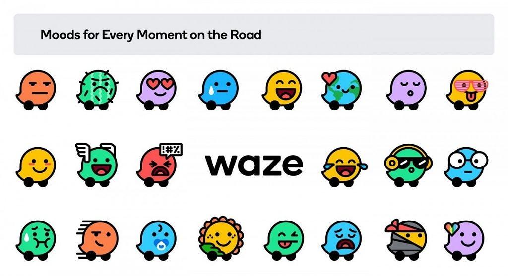 nawigacja waze nowe logo ikonki kolory aplikacja